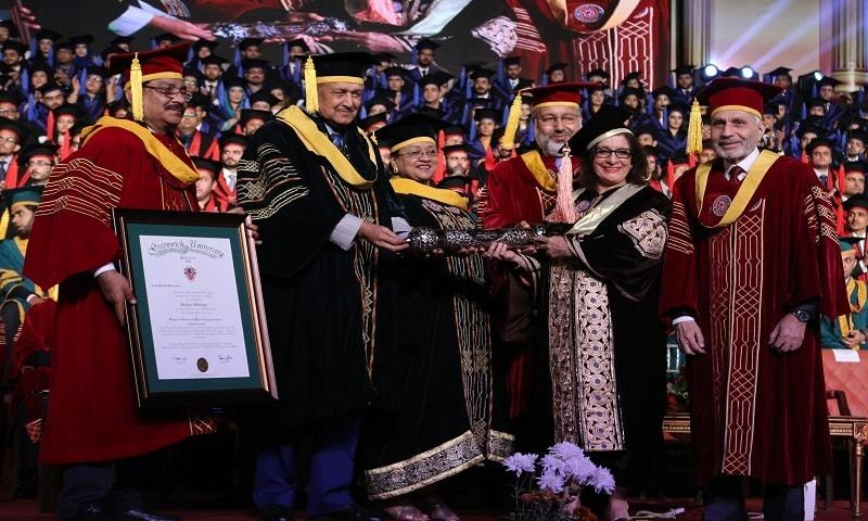 Sultana Siddiqui, President HUM Network, receives honorary degree