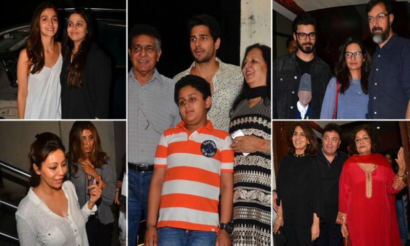 Mrs. Fawad Khan (and many more) attend 'Kapoor & Sons' screening in Mumbai