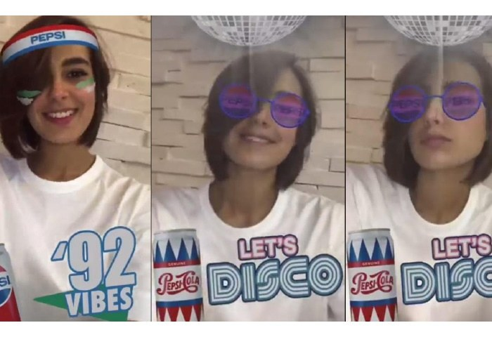 Iqra Aziz tried the new Pepsi Facebook filter and we are