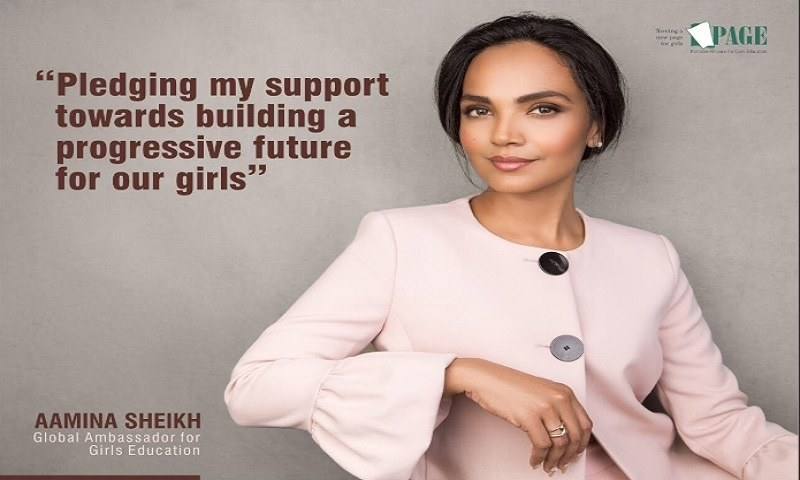 Aamina Sheikh Joins Hands with P.A.G.E for Girls' Education