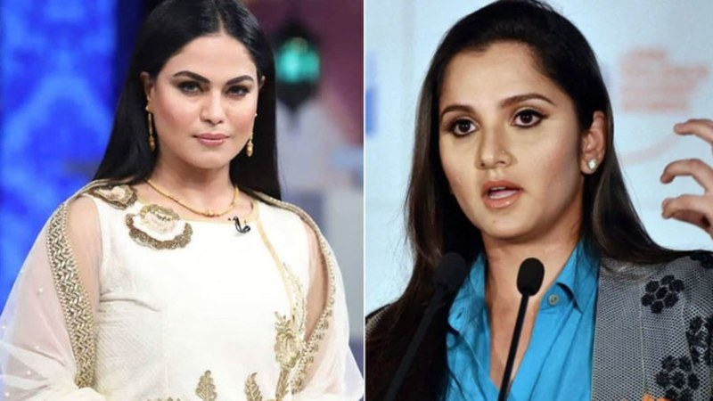 Veena Malik and Sania Mirza Engaged in a Twitter Feud! - HIP