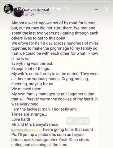 Faryal Mehmood and Daniyal Raheal Say I Do!