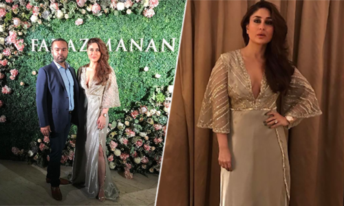 Kareena Kapoor Khan shines at Faraz Manan couture show
