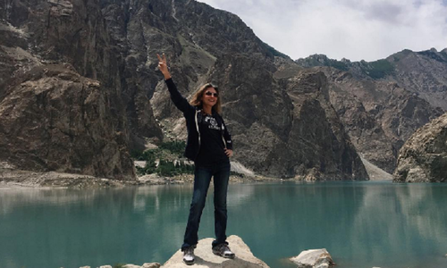 Atiya Khan treads the beautiful northern areas of Pakistan in style