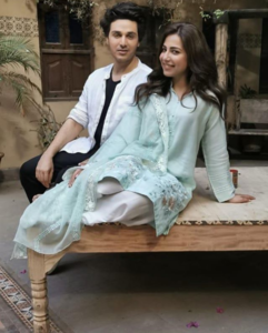 Ushna Shah & Ahsan Khan are shooting for an upcoming drama