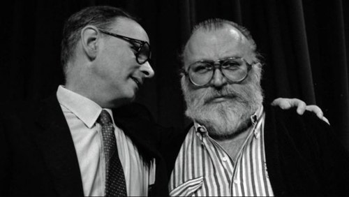 Ennio Morricone with Sergio Leone