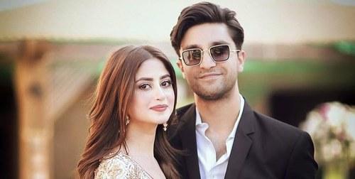 Ahad Raza Mir, Sajal Aly Attend Green Carpet Fashion Awards