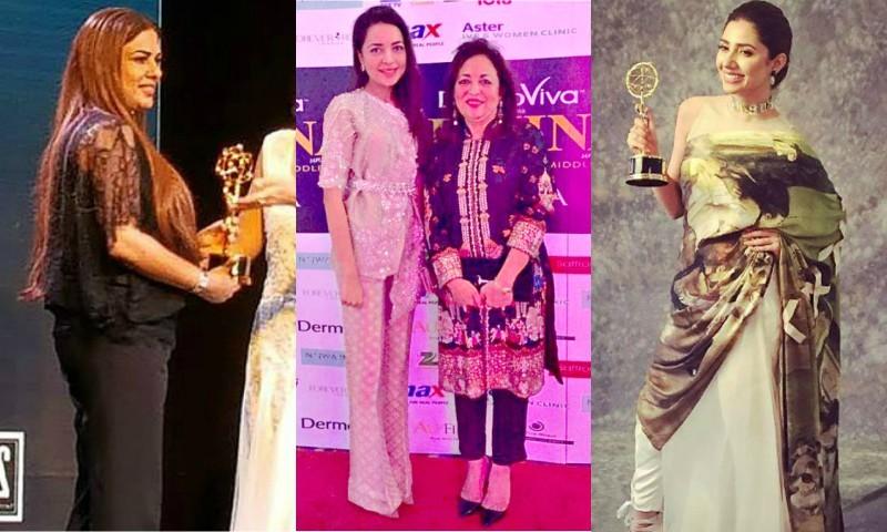 Mahira Khan Farah Talib Aziz And Namira Saleem Win At Femina Me Women Awards Celebrity Hip
