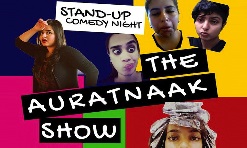 The comedy show held at T2F this weekend featured an all-women line-up