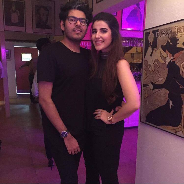 The besties are in town, Hareem Farooq & Tabish Khoja twinning