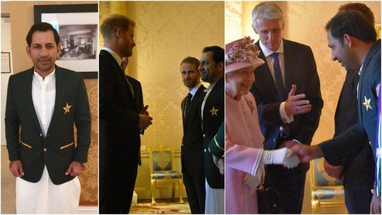 Sarfaraz Ahmed Wore Shalwar Kameez to Meet the Queen of England!