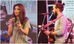 Mahira Khan and Jimmy Khan spontaneously sing 'Baarish' from HMJ