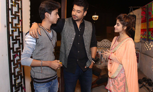 On the sets of Anjum Shehzad's untitled serial