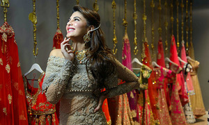Jacqueline Fernandez shines in Elan for 'Doli Diaries' event in London