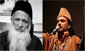 One legend to another: Amjad Sabri pays tribute to Abdul Sattar Edhi