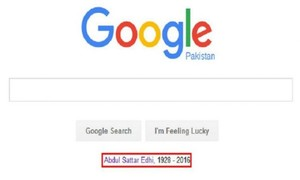 Google pays tribute to Edhi