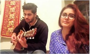 Momina Mustehsan jams with her brother in adorable pjs!