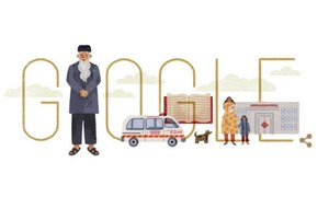Google celebrates Abdul Sattar Edhi's 89th birthday with a doodle dedication