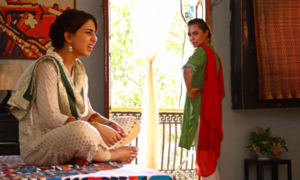 Nausheen Shah gears up for Eid telefilm with Ushna Shah