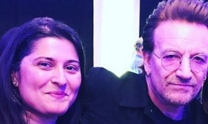 Sharmeen Obaid met Bono from U2 and we are super psyched!