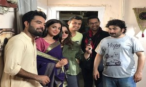 "Fun facts and BTS shots from Yasir Hussain's upcoming Eid telefim ""Dildariyaan"" on HUM TV"