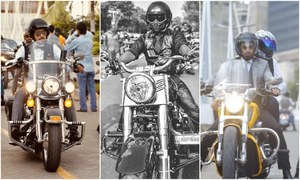Here's why Pakistani men, dapper and distinguished in their suits, rode their bikes in style on Sunday!