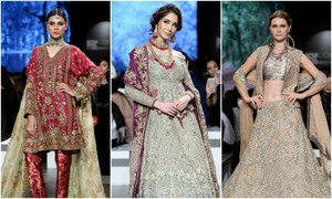 Fashion veterans dominate day 02 at the Pakistan L'Oréal Bridal Week