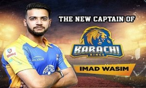 Imad Wasim named captain of Karachi Kings