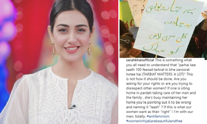 """If this is what our women want as their ""right,"" I'm with our men, totally,"" says Sarah Khan"