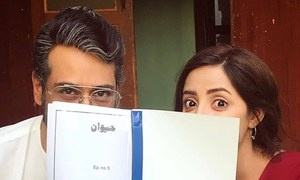 Sanam Chauhdry and Faysal Qureshi are busy shooting for their next drama 'Haiwaan'