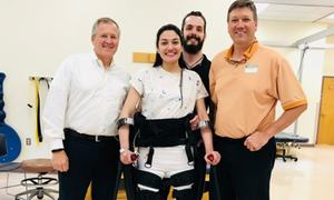 Muniba Mazari stands on her own for the first time in ten years!