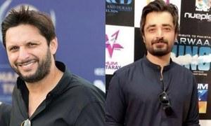 Shahid Afridi and Hamza Ali Abbasi donate to the cause of Diamer-Bhasha and Mohmand Dams construction