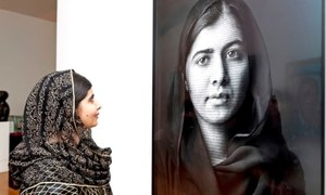Malala Yousafzai's First of the Two Portraits Unveiled At London Gallery