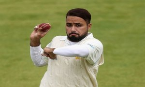 Pakistan bowler toil on opening day of tour game