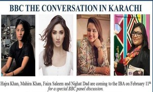 Mahira on the discussion panel of BBC