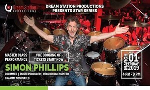 Grammy nominated Simon Phillip's Arrives in Pakistan!