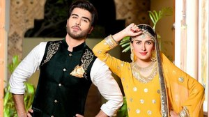 Ayeza Khan and Imran Abbas Begin Shooting For a New Play 'Bheegi Palkain'
