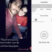 Feroze Khan deactivates his Instagram account.